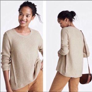 Madewell Riverside Textured Crewneck Sweater